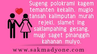 Ucapan Pernikahan Bahasa Jawa