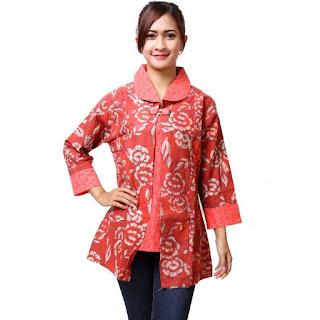 Model Baju Batik Kantor Terbaru Lengan Panjang
