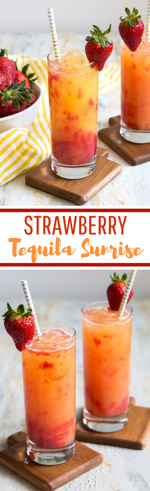Strawberry Tequila Sunrise #cocktail #summerdrink