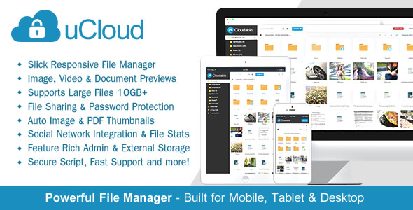 CodeCanyon - uCloud v1.2.3 - File Hosting Script - Securely Manage, Preview & Share Your Files