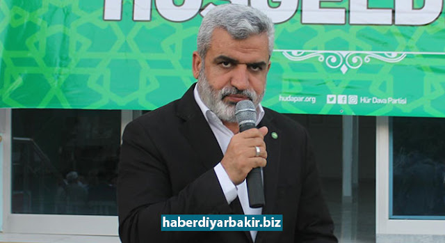 """DIYARBAKIR-Vedat Turgut, Vice President of HUDA PAR, spoke on the iftar program organized by Bismil District Organization, said, """"They are looking at Qatar with hostility because Qatar stood against putschist Sisi and against israel. Their goal is to invade Qatar like Egypt. The next target is Turkiye, Iran, other Islamic countries."""""""