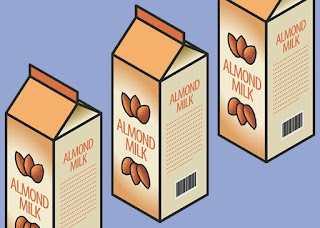 Coconut and Almond Milk in Cartons