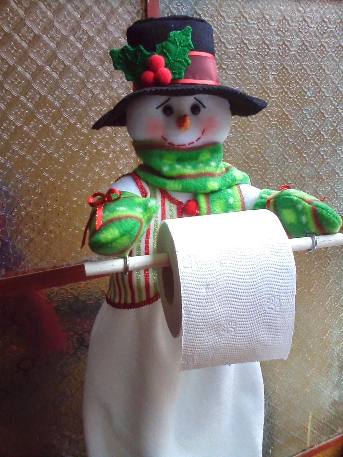 Manualidades anafer mu ecos navide os portarollo - Manualidades munecos de navidad ...