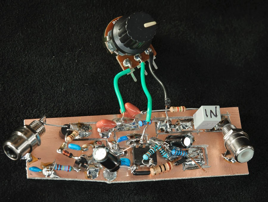 Tone and mute circuit breadboard