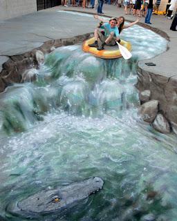 Arte 3D en la calle con tizas de Julian Beever