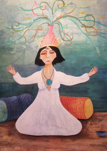"""High Priestess Cropped"" by Karyn Raz 
