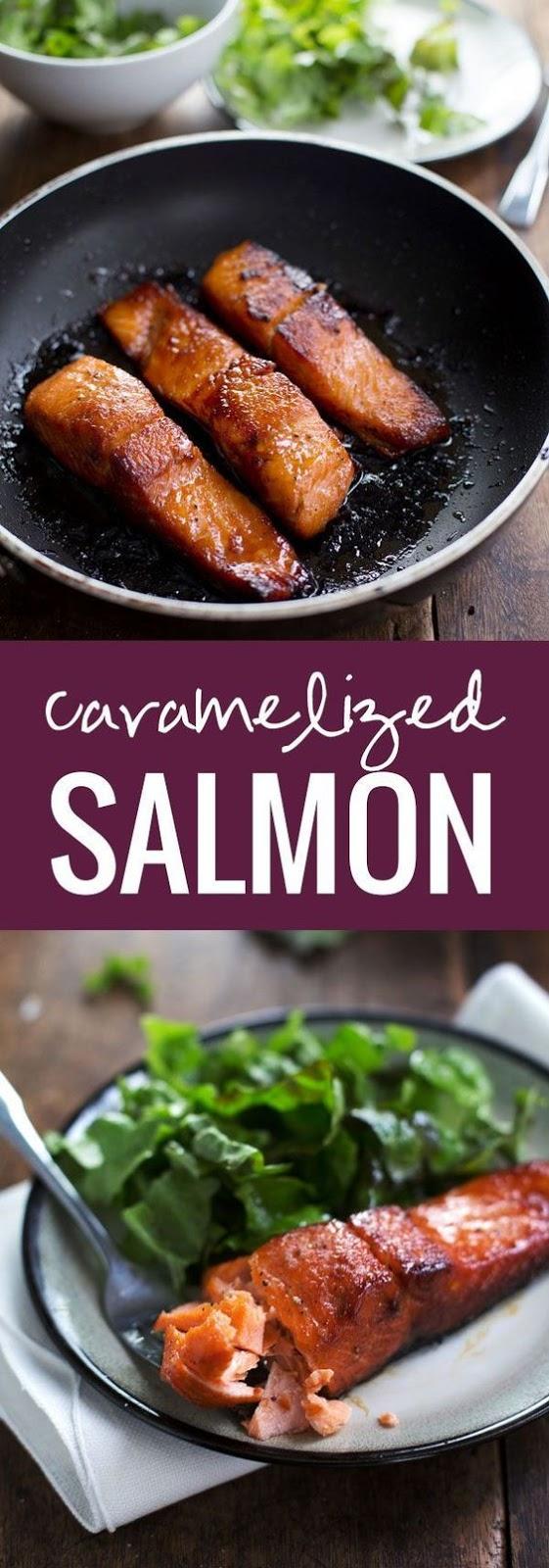 4 Ingredients Caramelized Salmon