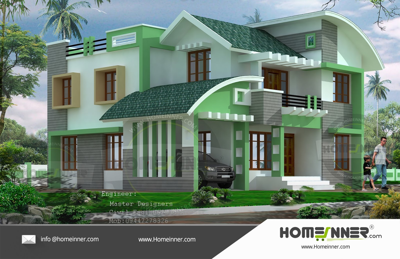 4 Cent 4 Bedroom 4BHK readymade House plan