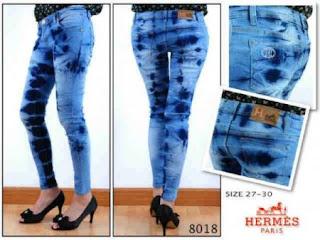 Celana Jeans Wanita Hermes 8018