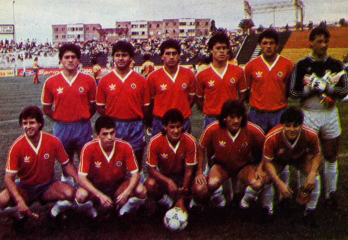 Formación de Chile ante Colombia, Copa Centenario de Armenia, 5 de febrero de 1989