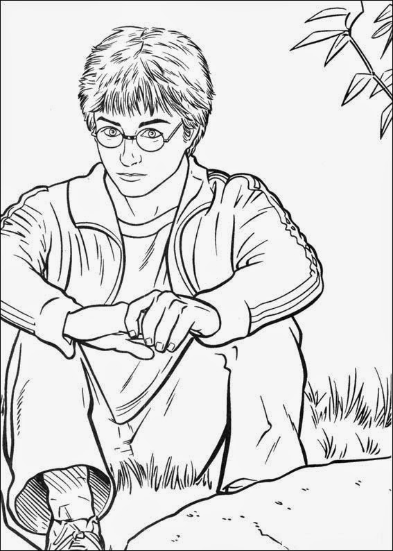 It is a photo of Crush Coloring Pages Harry Potter
