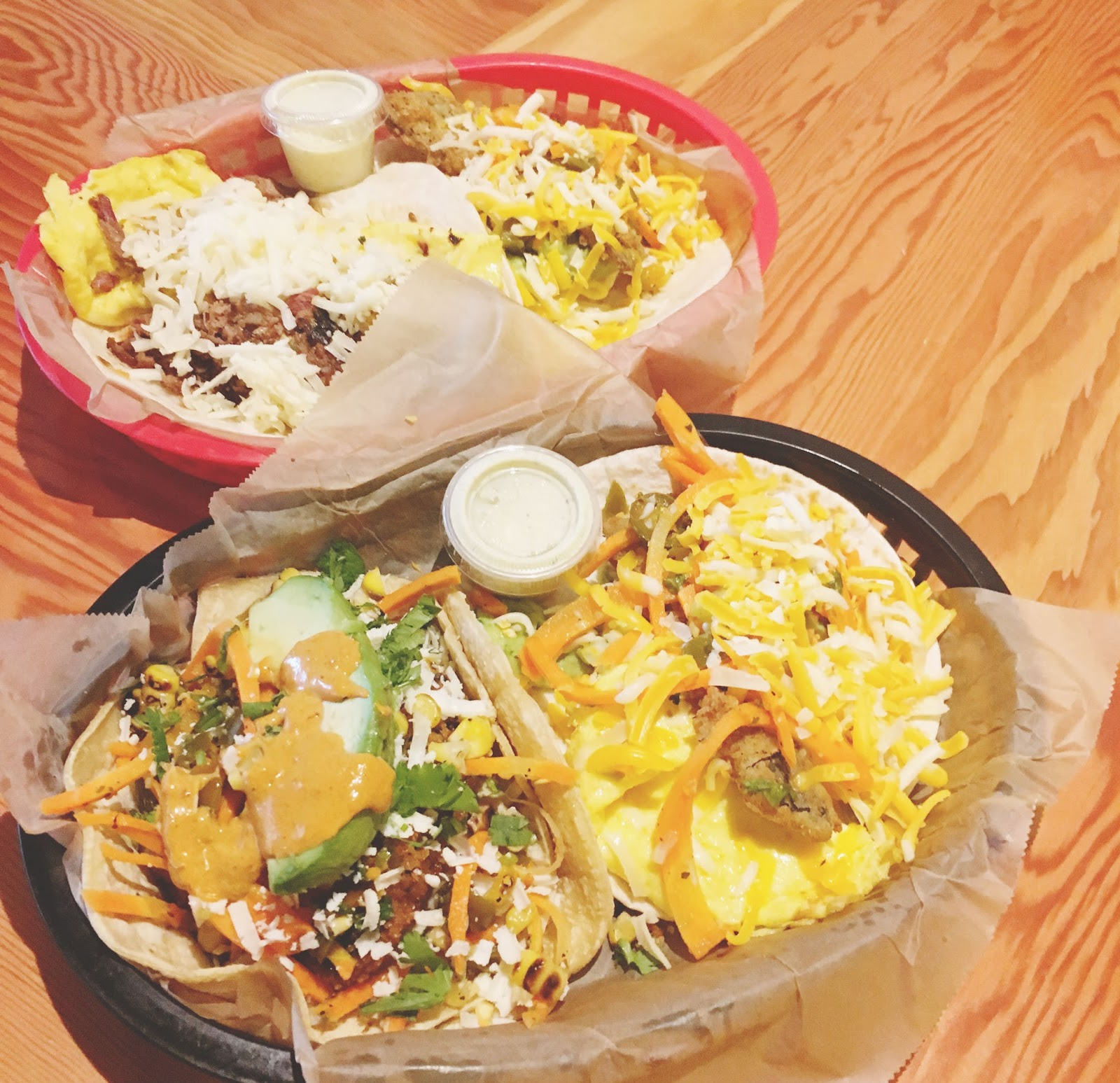 breakfast tacos at Torchy's - a restaurant in Houston, Texas