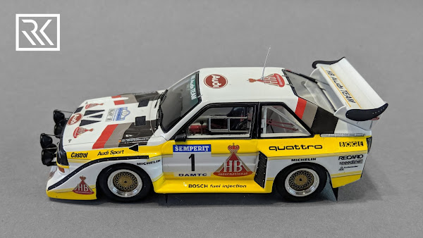 Zdjęcie modelu Spark Audi Sport Quattro S1, Walter Rohrl & Christian Geistdorfer, Winner International Semperit Rally 1985, Limited edition for Rallye-Fanshop 1 of 300