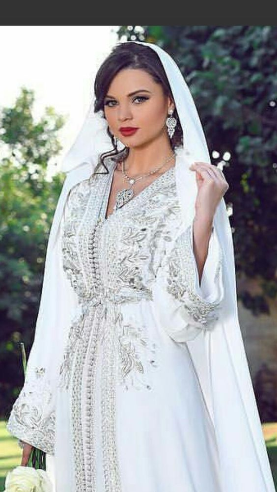 caftan blanc mariée 2019 selma benomar