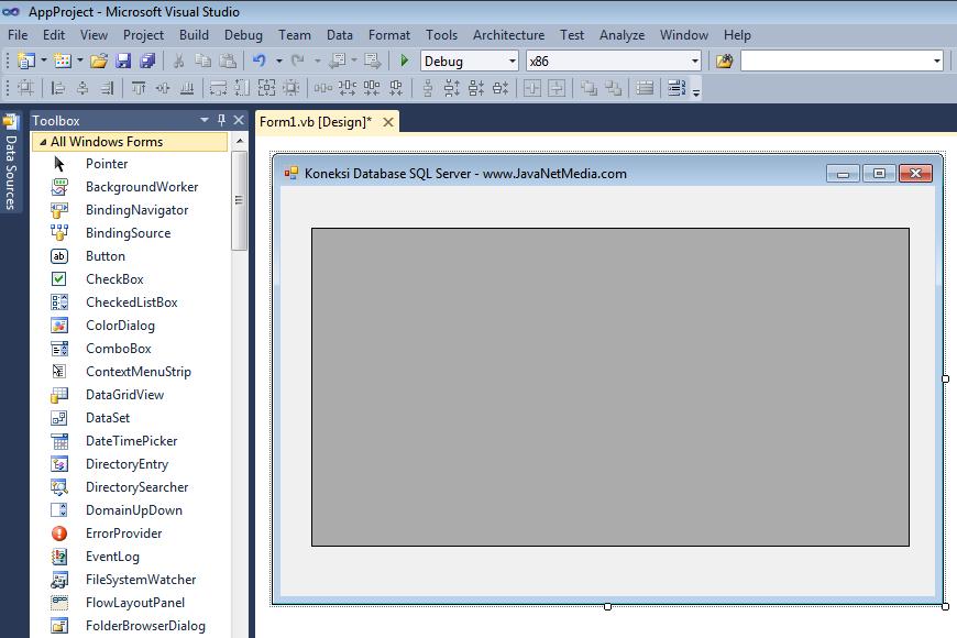 source code aplikasi: VB .NET - Cara Koneksi Database SQL