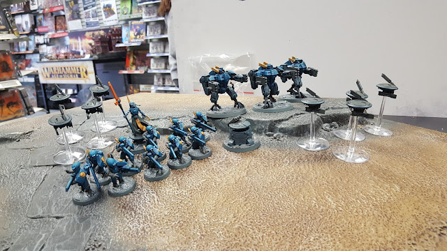 t'au tau starter army start collecting 500 points school league warhammer 40k