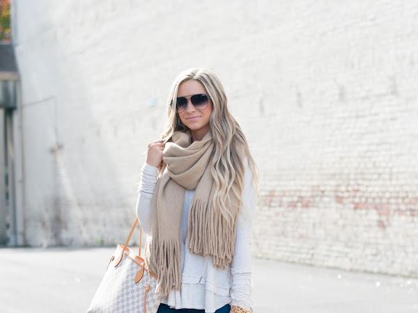 Gorgeous Cozy Camel Scarf/Wrap