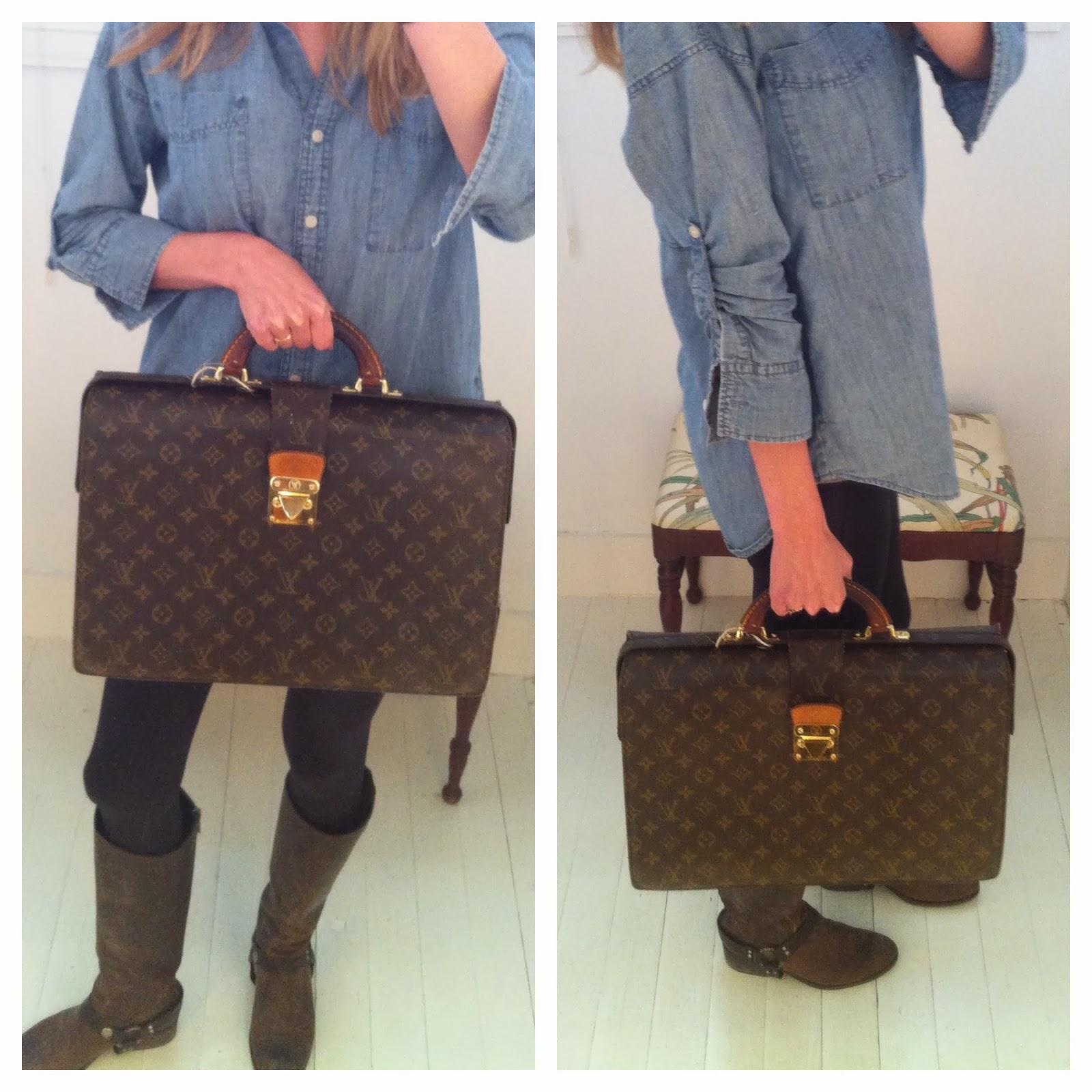ad2efbf0fb35 Fondren Muse  Louis Vuitton Serviette Fermoir Briefcase  1495