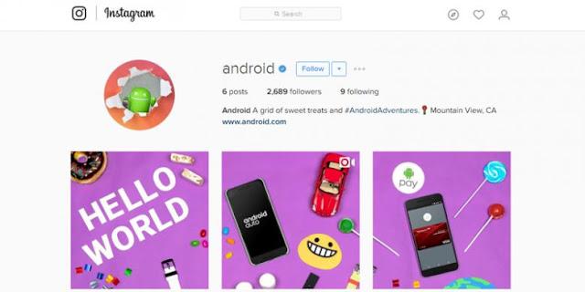 Android Punya Akun Resmi di Instagram, Ini Posting-an Pertamanya