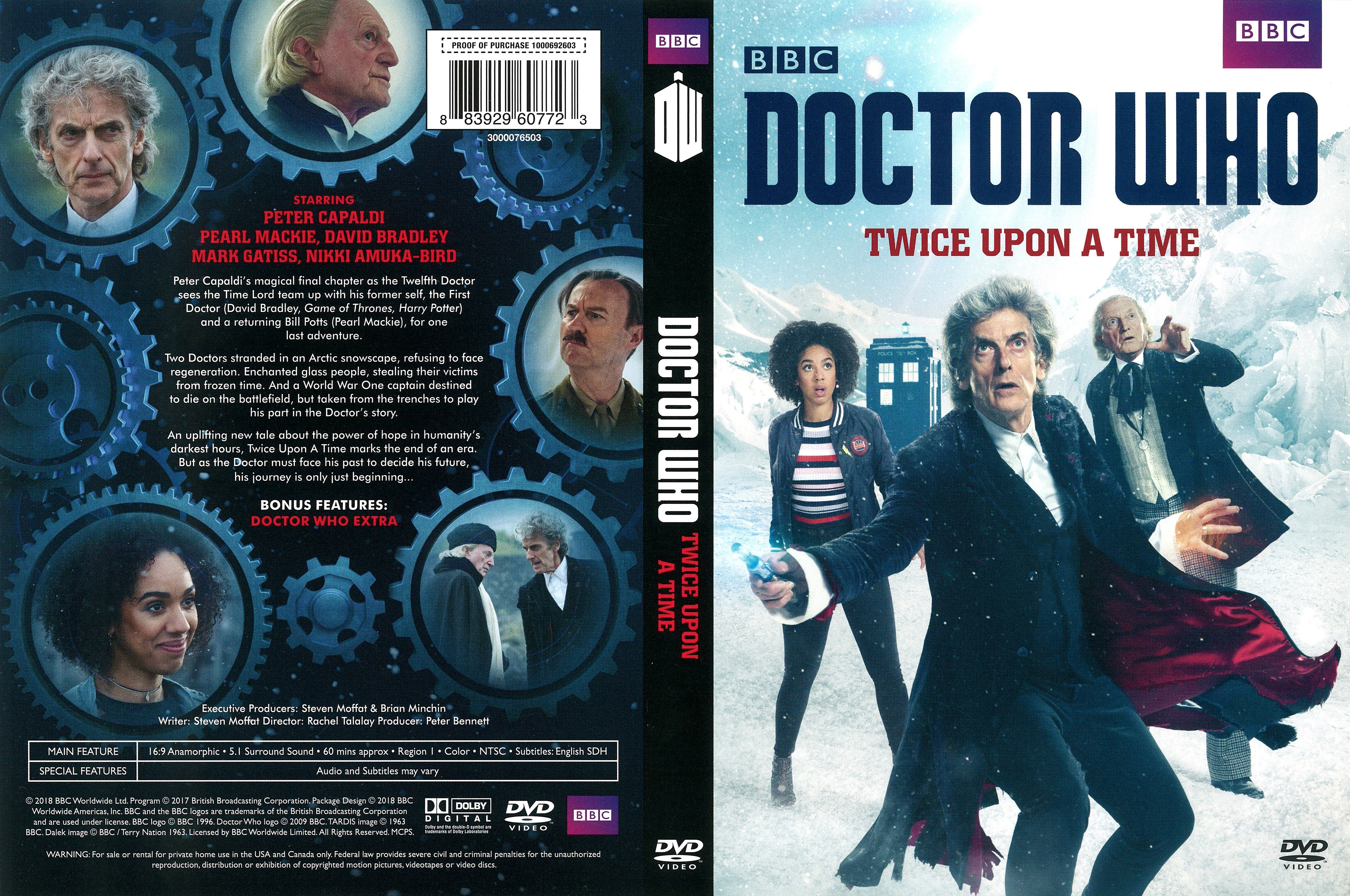 doctor who twice upon a time dvd cover cover addict