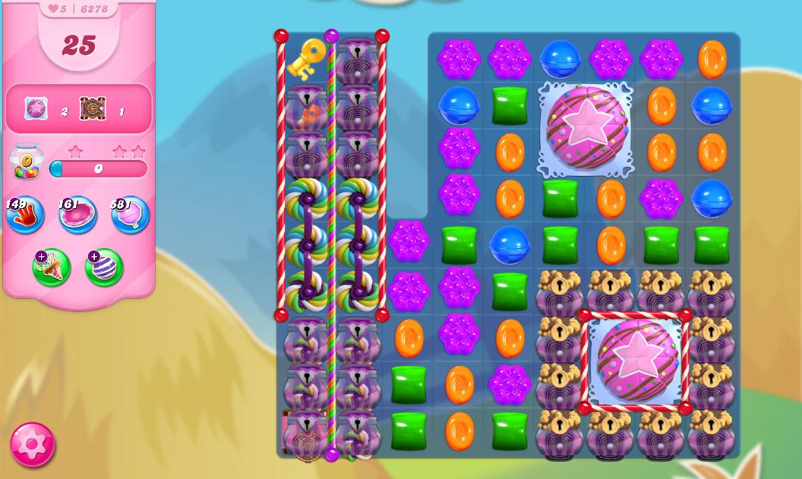 Candy Crush Saga level 6278