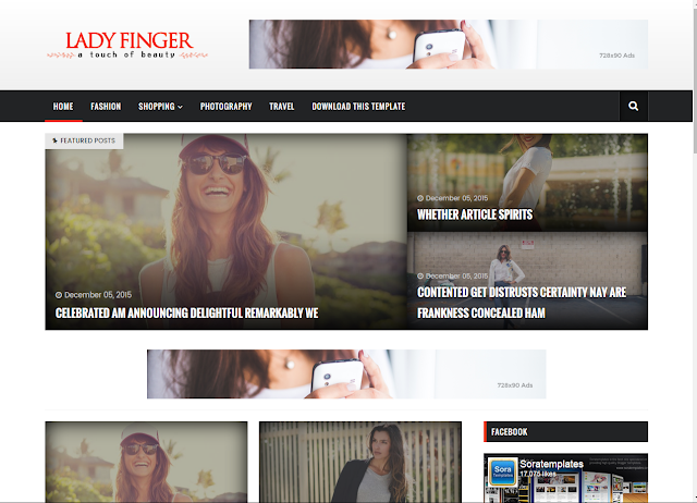 lady finger new blogger templates 2017