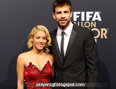Gerard Piqué and his new girlfriend Shakira