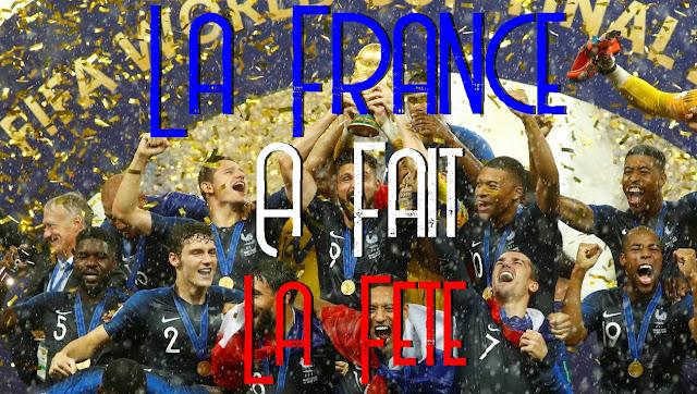 Aujourd'hui c'est pire qu'au ralenti c'est en pause 😴🙃😵    Ça se comprend, nous sommes LUNDI..   et hier la FRANCE à gagné la COUPE DU MONDE 🍾    Félicitations les bleus 🇫🇷🙏    On s'est bien amusé 👌🤗