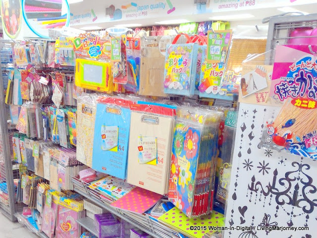 Daiso Philippines pretty stationery, coloring pens.