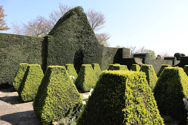 Doddington Place South Terrace Topiary Secret Garden