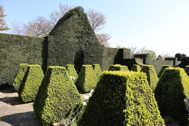 Doddington Place South Terrace Topiary Secret Garden