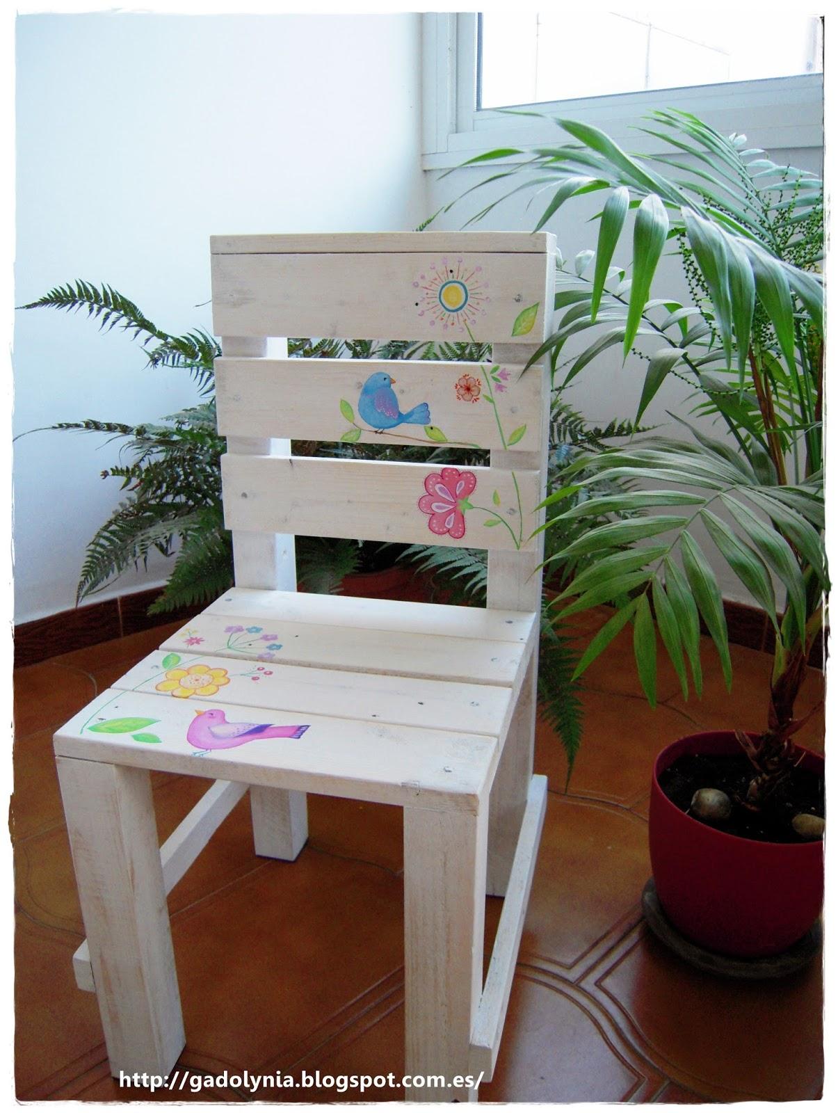 Gadolynia silla infantil decorada - Silla infantil madera ...
