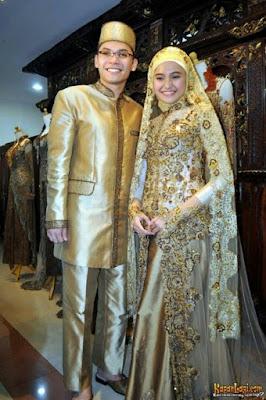 Gaun Pengantin Muslimah Para Artis