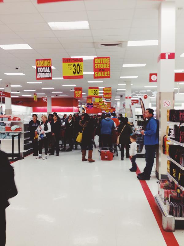 Target store closing in Canada