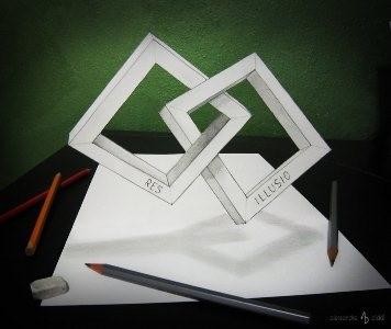 Lukisan Pensil 3D Yang Keren Abis