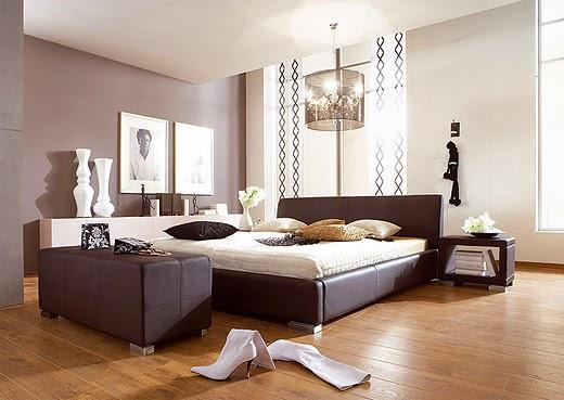 habitación color beige marrón