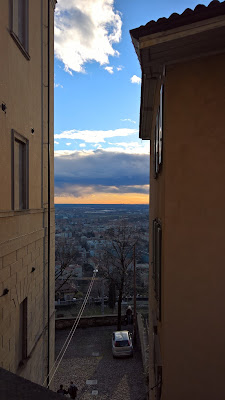 A slice of the Po River Valley and Sky from Città Alta