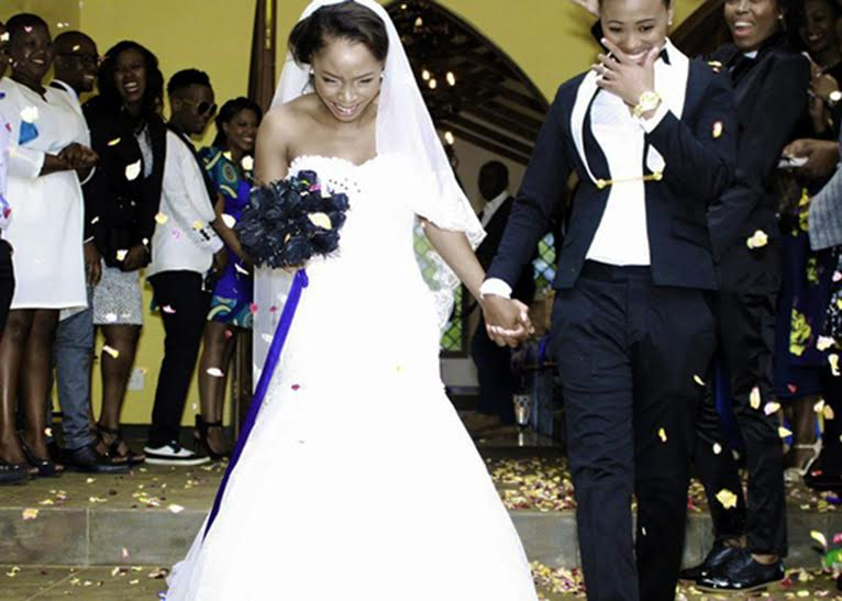 Two South African #lesbian women who got married to each