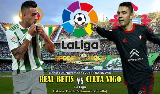 Prediksi Betis Vs Celta Vigo 05 November 2018