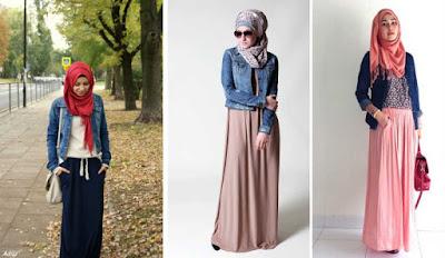 Pakai Jaket Denim Untuk Hijaber 002
