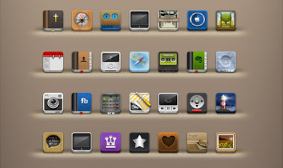 Set de iconos para iphone ipad touch libre descarga