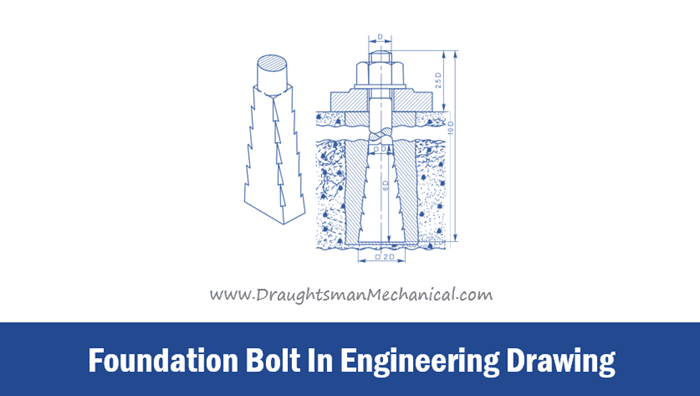 Foundation-Bolt-In-Engineering-Drawing