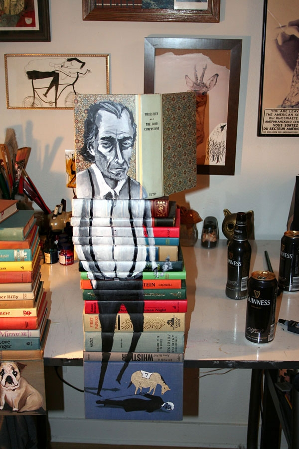 15-Mike-Stilkey-Books-used-as-Canvasses-for-Paintings-www-designstack-co