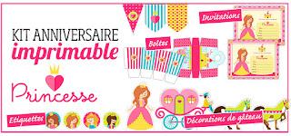 kit anniversaire princesse gratuit