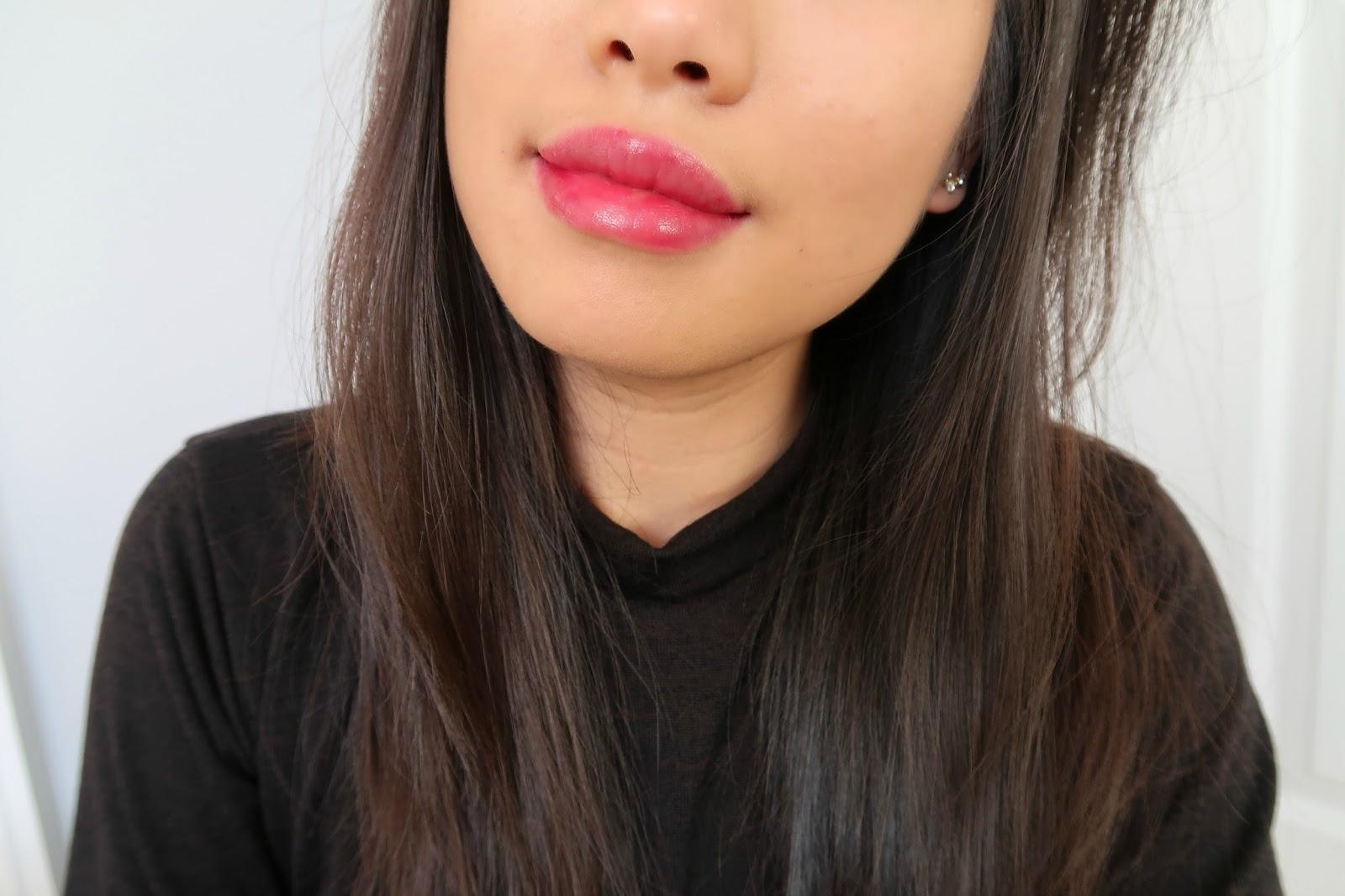 Berrisom oops! my lip tint pack peel off lipstick makeup review demo