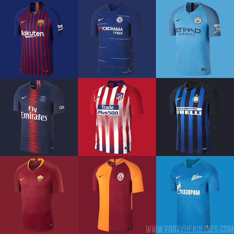newest e3848 6b079 Barcelona, Chelsea, Manchester City, PSG, Atletico, Inter ...