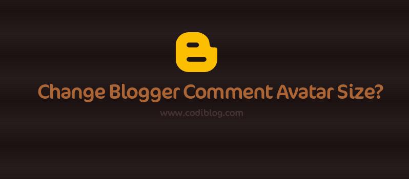 Change blogger comment avatar size