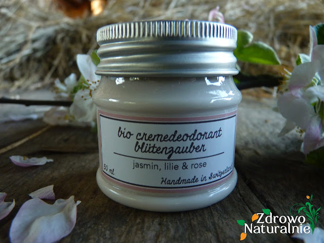 Bioana - blütenzauber - Dezodorant w kremie o zapachu róży, białej lilii i kwiatów jaśminu