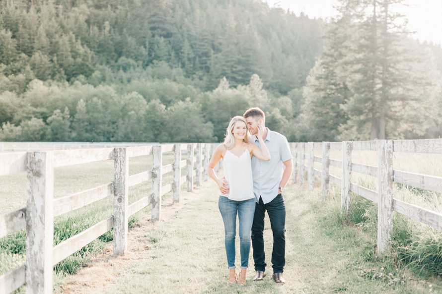 Romantic Ranch Engagement Session-Bonney Lake Wedding Photographers-Something Minted Photography
