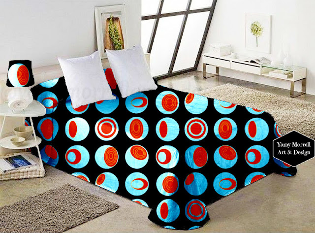 Black-Brown-blue-pattern-fabric-geometric-by-yamy-morrell